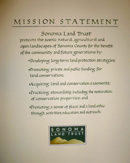 "Mission Statement, commissioned by Sonoma Land Trust, 20"" x 24""."