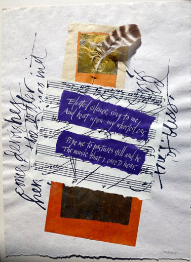 "Text by Gerard M. Hopkins, collage, 18"" x 22."""